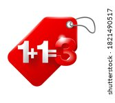 1 plus 1 is 3 badge for special ... | Shutterstock .eps vector #1821490517