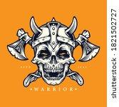 Skull Viking Warrior With Axe...