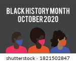 black history month vector with ... | Shutterstock .eps vector #1821502847