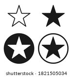 star shape icon. vector...