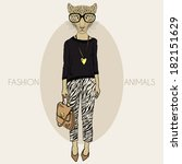 Fashion Illustration Of Leopar...