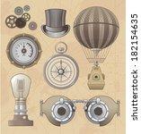 vintage steampunk vector design ... | Shutterstock .eps vector #182154635