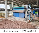 Small photo of The picture of sludge dewatering belt press.