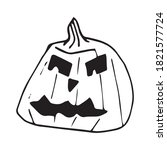 halloween jack o' lantern....   Shutterstock .eps vector #1821577724