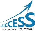 success arrow vector. stock... | Shutterstock .eps vector #1821578144