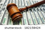 Judges Court Gavel On Money   ...