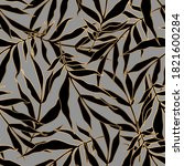 seamless pattern with black... | Shutterstock .eps vector #1821600284