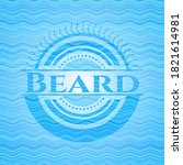 beard water wave representation ... | Shutterstock .eps vector #1821614981