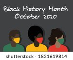 black history month vector with ... | Shutterstock .eps vector #1821619814