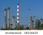 Wide view of a refinery complex. - stock photo