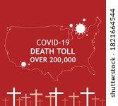 corona virus 2020. covid 19 in... | Shutterstock .eps vector #1821664544