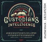 font custodians of intelligence.... | Shutterstock .eps vector #1821692504