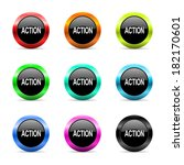 web buttons set on white... | Shutterstock . vector #182170601