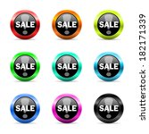 web buttons set on white...   Shutterstock . vector #182171339