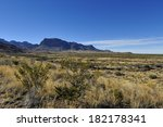 Panorama View Of The Chisos...