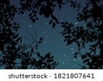 magic night dark navy card with ... | Shutterstock .eps vector #1821807641