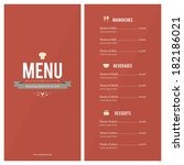 restaurant menu. flat design | Shutterstock .eps vector #182186021