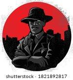 mafia gangster cartoon with... | Shutterstock .eps vector #1821892817