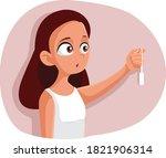 teen girl experiencing first... | Shutterstock .eps vector #1821906314