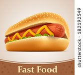 fast food icon   hot dog | Shutterstock .eps vector #182192549