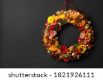 Beautiful Autumnal Wreath With...