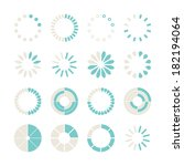 loading and buffering icon set. ... | Shutterstock .eps vector #182194064