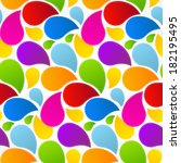 colorful retro abstract liquid... | Shutterstock .eps vector #182195495
