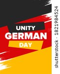 German Unity Day. Celebrated annually on October 3 in Germany. Happy national holiday of unity, freedom and reunification. Deutsch flag. Patriotic poster design. Vector illustration