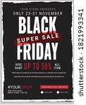 black friday business flyer... | Shutterstock .eps vector #1821993341