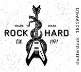 Постер, плакат: vintage label rock hard