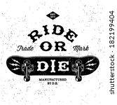"""Vintage Label """" Ride Or Die """" ..."""
