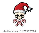 scary santa claus skull icon... | Shutterstock .eps vector #1821996944