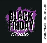 black friday sale poster or... | Shutterstock .eps vector #1822019681