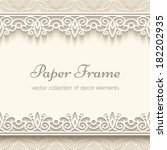 Paper Lace Frame With Seamless...