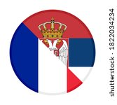 round icon with france and... | Shutterstock .eps vector #1822034234