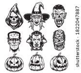 Halloween Characters Vintage...