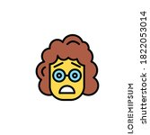 frowning with open mouth emoji  | Shutterstock .eps vector #1822053014