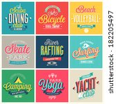 summer sports set   labels and... | Shutterstock .eps vector #182205497