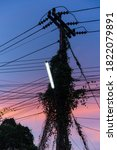 Silhouette Photo Of An Electric ...