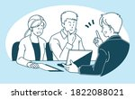 illustration of a businessman... | Shutterstock .eps vector #1822088021