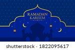 ramadan kareem eastern pattern... | Shutterstock . vector #1822095617