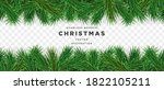 christmas tree border template... | Shutterstock .eps vector #1822105211