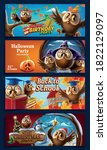 set of holiday celebration... | Shutterstock .eps vector #1822129097