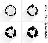 4 arrow icon. set 03. | Shutterstock .eps vector #182215445