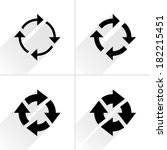 4 arrow icon. set 04.