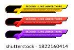 vector  lower third or... | Shutterstock .eps vector #1822160414