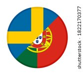 round icon with sweden and... | Shutterstock .eps vector #1822170377