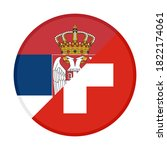 round icon with serbia and ... | Shutterstock .eps vector #1822174061