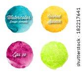 vector watercolor design...   Shutterstock .eps vector #182217641