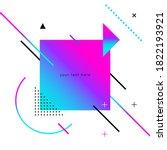 vector design template for... | Shutterstock .eps vector #1822193921